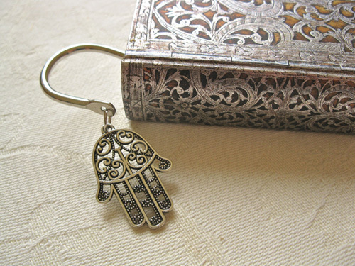 Hamsa Hand of Fatima bookmark  ~ squiggly