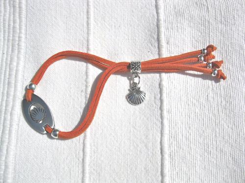 Camino bracelet Compostela ft scallop shell