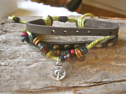ANCHOR NaturalSoul bracelet ~  mulberry