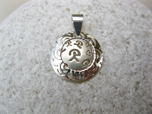 Indalo charm pendant ~ button, duo
