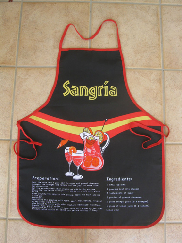 Pinny / apron ~ Sangria, black
