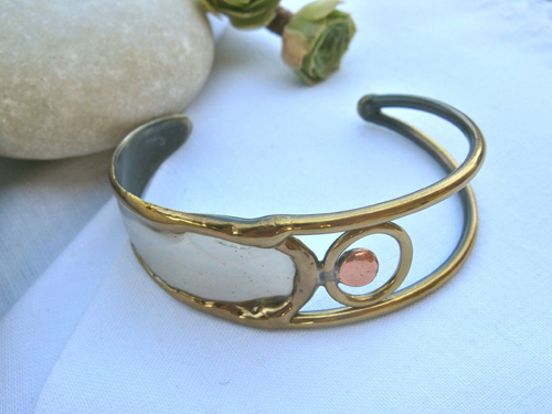 Indalo bangle ~ Valentina, bronze, brass + copper
