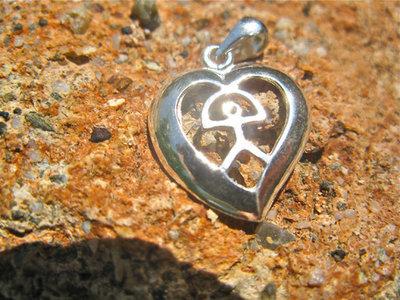 Indalo pendant ~ heart, silver