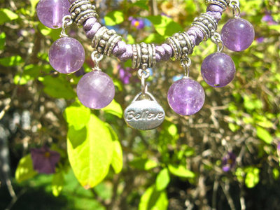 Amethyst BELIEVE jewellery set
