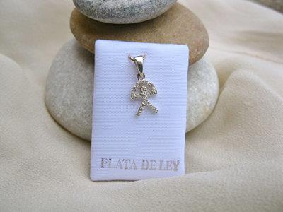 Indalo pendant ~ zirconite + silver, classic, small