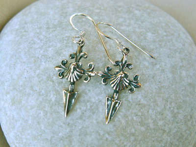 Saint James cross Camino earrings ~ ideal safe travel gift