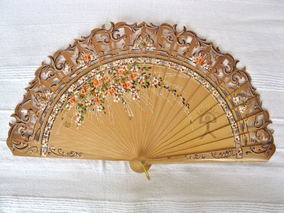 Spanish fan ~ double-sided Indalo triana