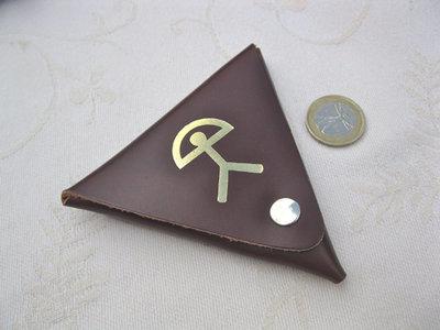Spanish Leather Purse ~ Indalo triangle, small