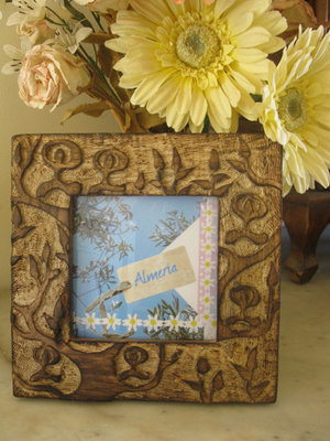 Wooden photo frame ~ Indalo, square