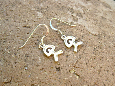 Indalo earrings ~ bicoloured sterling silver