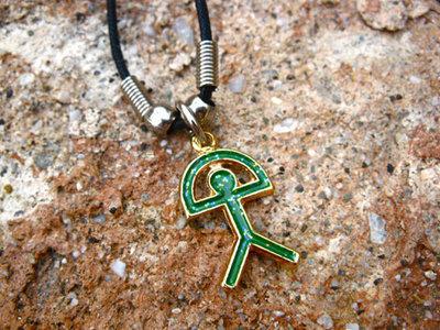 Indalo charm necklace ~ turquoise sparkle