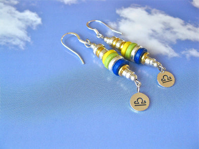 Life Path Zodiac charm earrings ~ inca