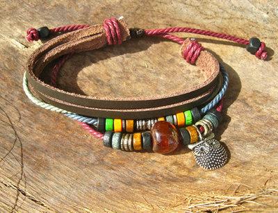 Guardian owl bracelet ~ NaturalSoul, honey