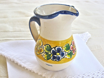 Talavera pottery jug ~ summertime, small
