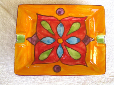 Spanish ceramic ashtray / dish ~ oro