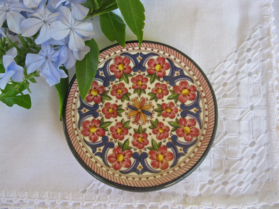 Spanish Wall Plate ~ floral Cordoba
