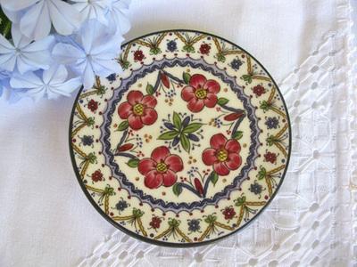 Spanish Plate ~ Merida, floral