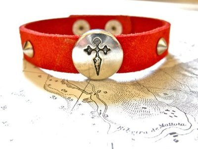 St James cross bracelet of Spain's Camino de Santiago