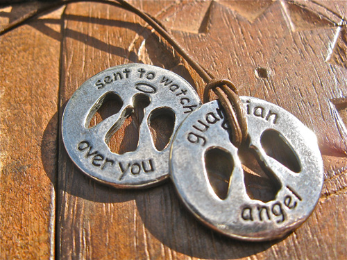 GUARDIAN ANGEL necklace - pewter charm