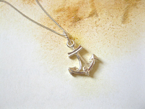 Anchor necklace, 925 silver