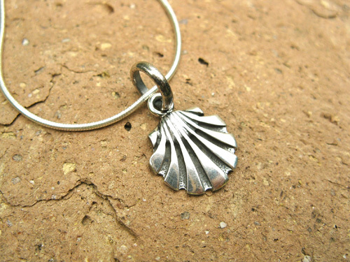 Camino de Santiago jewellery - scallop shell necklace, silver