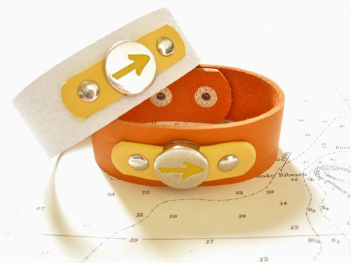 Way of St James Arrow symbol cuff bracelet