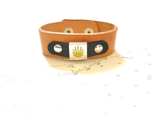 Camino de Santiago Compostela cuff bracelet