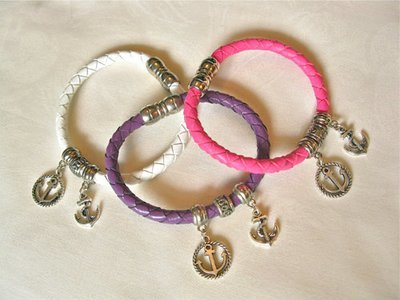Leather bracelet ~ ANCHOR