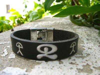 Leather Indalo bracelet ~ trio