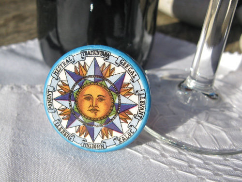 Spanish ceramic wine stoppers ~ sun series