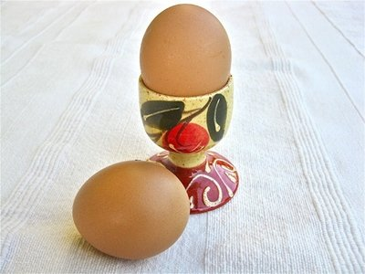 Spanish ceramic egg cup ~ olive