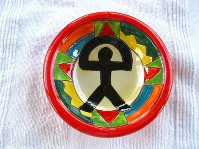 Spanish Ceramic Bowl ~ Indalo, russet