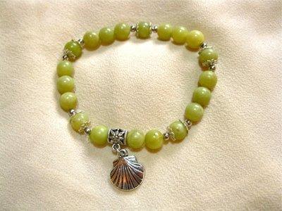 Camino de Santiago safe travel bracelet, jade