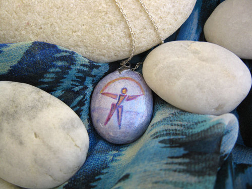 Charm necklace - pebble, Indalo MYSTICAL