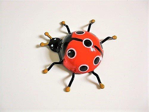 Lucky Ladybird fridge magnet ~ Mario