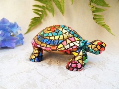 Spanish ceramic Tortoise figurine ~ Indy