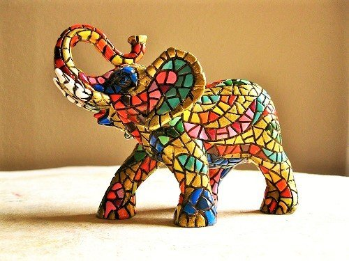 Spanish ceramic lucky Elephant figurine ~ Rafael