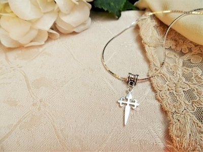 Cruz de Santiago / Cross of St James necklace - silver