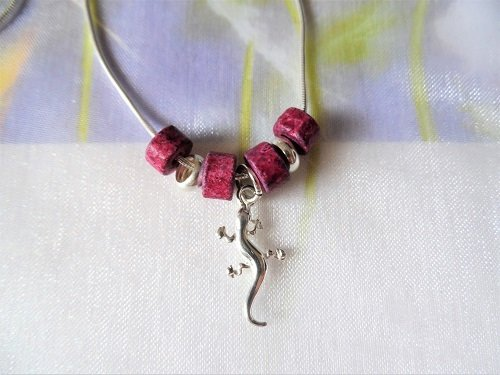 Lucky gecko charm necklace