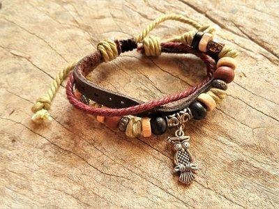 Guardian owl bracelet ~ NaturalSoul, sierra