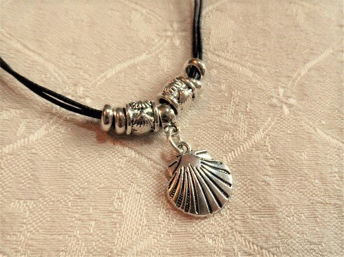 Compostela scallop shell necklace for someone travelling