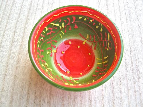 Spanish ceramic bowl ~ honeysuckle mini