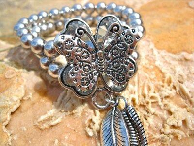 Big bold butterfly bracelet