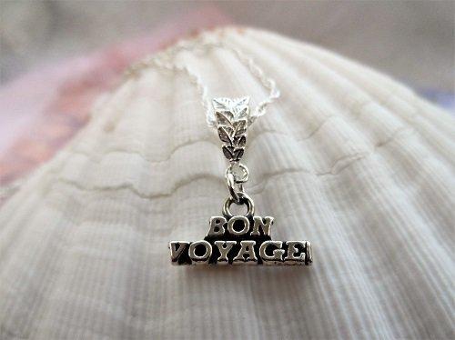 Travel necklace ~ Bon Voyage, silver