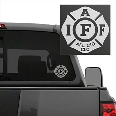 IAFF White Frosted Die-Cut Maltese Vehicle Decal