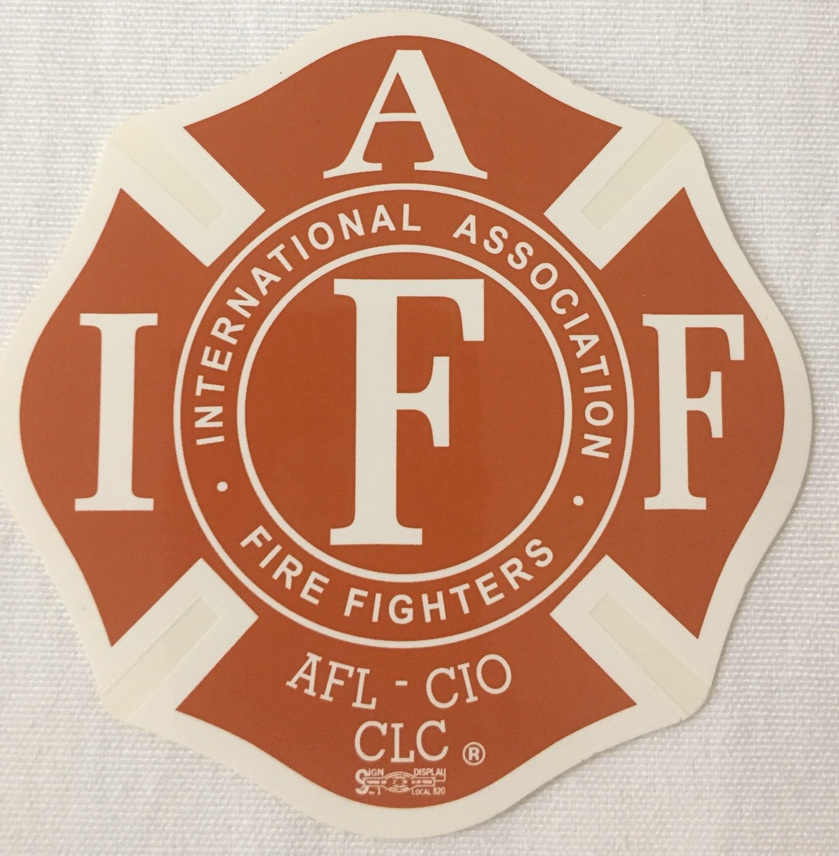 Vehicle Sticker IAFF Red