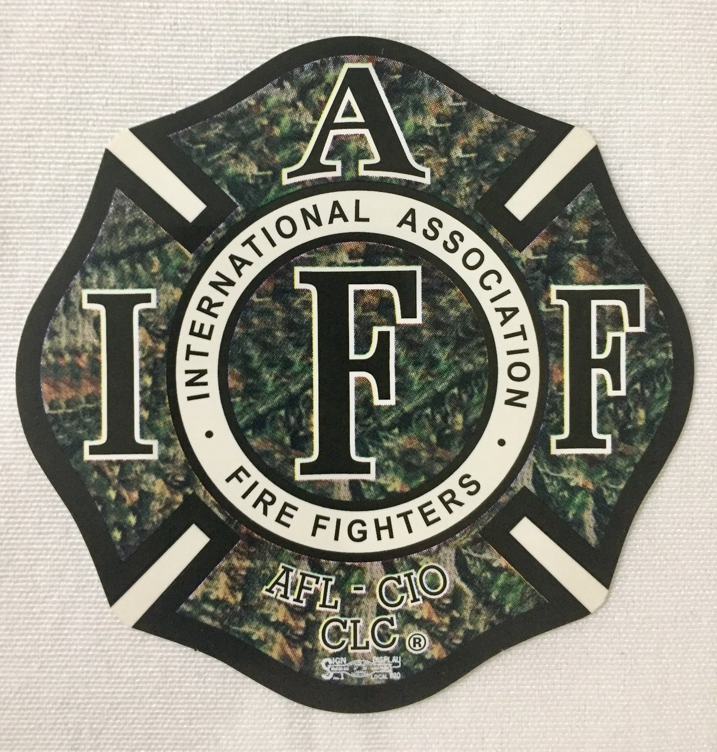 Vehicle Sticker IAFF Green Camo