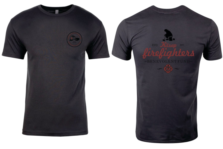 B-Fund Kneeling FF T-Shirt, Dark Gray