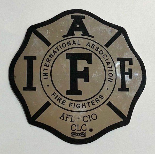 Vehicle Sticker IAFF Chrome
