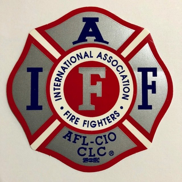 Vehicle Sticker IAFF Silver